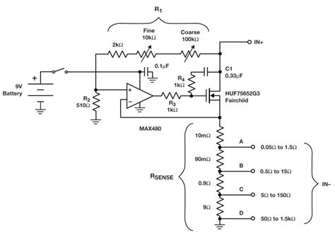 variable load resistor circuit diagram electronic rheostat provides decades of load resistance ee times