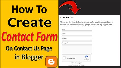 how to create contact us form in how to add a