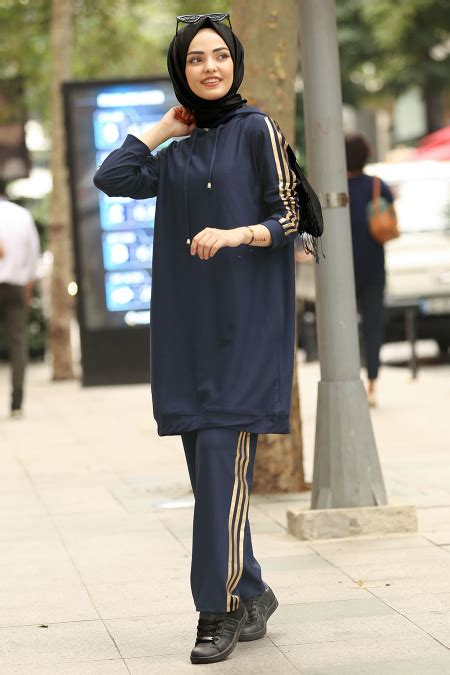 Nayla Navy nayla collection navy blue casual suit 8220l