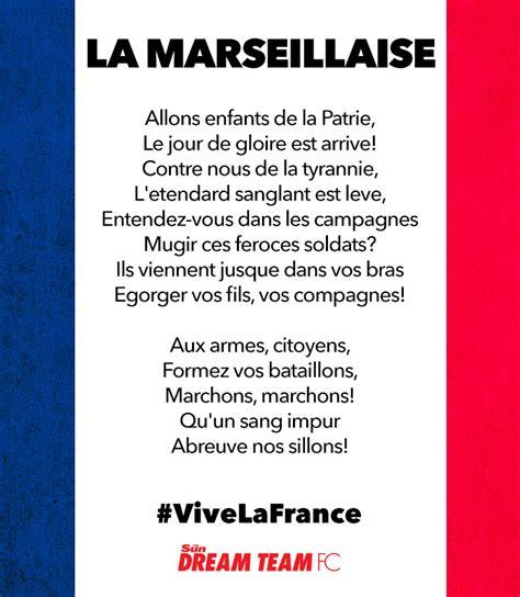 testo marseillaise learn the words to la marseillaise ahead of v