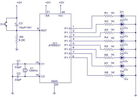 led light chaser circuit diagram 8 channel light chaser 8051 circuit diagram