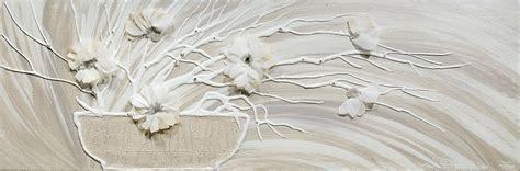 quadri moderni con fiori in rilievo fiori bianchi quadri stratfordseattle