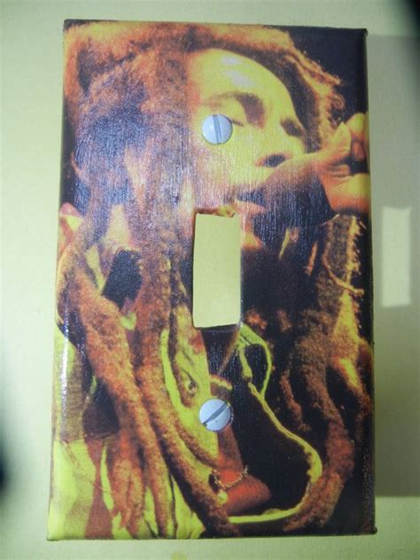 bob marley light switch plate cover room reggae home