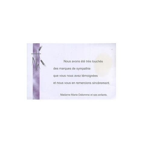 carte de remerciement d 233 c 232 s deuil condol 233 ances obs 232 ques