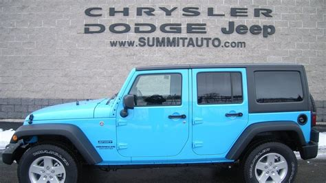 sold 7j150 2017 jeep wrangler unlimited 4x4 chief blue clearcoat color led light www summitauto