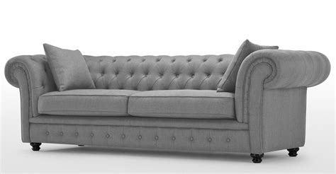 grey sofa and chair branagh 3 seater grey chesterfield sofa made com