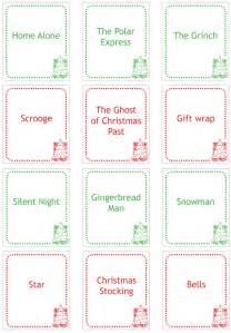 Backyard Family Games Christmas Charades Printable Childhood101