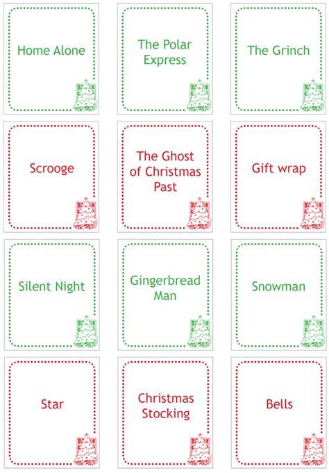 christmas charades printable childhood101
