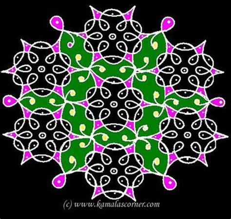 dot kolangal pattern kolangal 11 15 dots kolam kolam pinterest rangoli