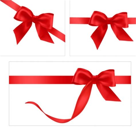 Ribbons Gift Card - gift card with red ribbons design vector free vectors ui download