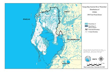 bay county florida flood zone map ta bay anclote river watershed distribution of fema 100