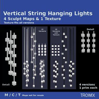 second life marketplace trowix vertical string hanging