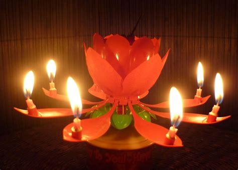 kerzenhalter blume spinning musical birthday candle flower gift