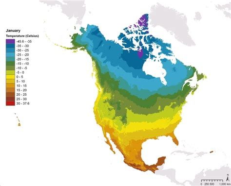 america map temperature atlas maps commission for environmental cooperation