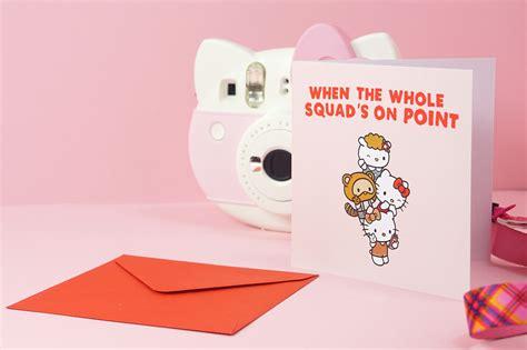 Kartu Ucapan Bentuk Karakter Lucu Birthday Card Hpa029 ada yang lebih imut selain kartu ucapan karakter sanrio dengan ucapan ala milenial facetofeet