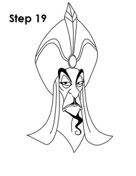 How To Draw Jafar Jafar Coloring Pages