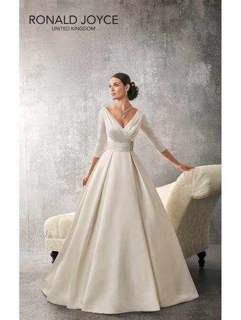 Dress Andrea ronald joyce 69155 andrea 3 4 length sleeves satin