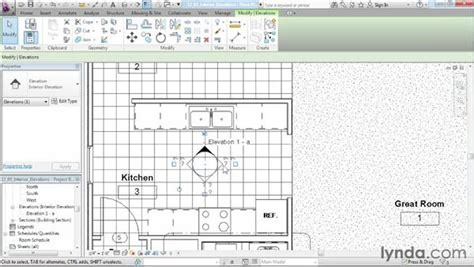 revit tutorial for interior design creating interior elevation views