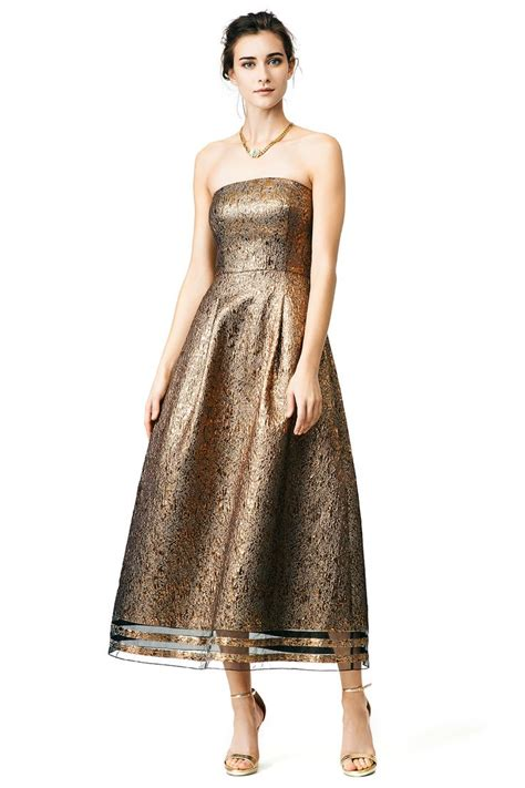 Gold Dress For what to wear to a fall 2015 wedding gold dress from rent the runway wedding guest dresses