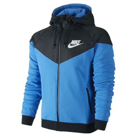 Sweater Murah Jaket Nike Blue Limited nike s windrunner fleece mix jacket photo blue sports leisure zavvi