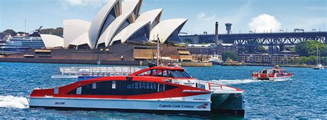 fast boat sydney harbour circular quay ferry services captain cook cruises