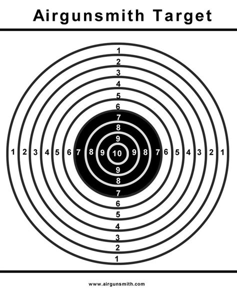 printable free rifle targets rifle printable targets http www airgunclub org