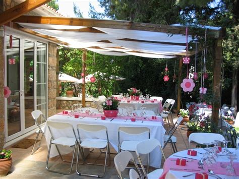 Outdoor Baptism Party Ideas D Kayla S Baptism Party Centerpieces For Baptism Reception