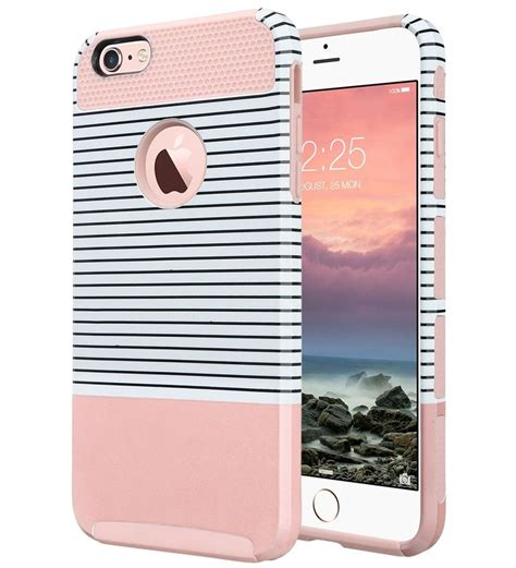 Iphone 6 6s Plus Arsenal Stripe Hardcase gold pink striped new cell phone holder