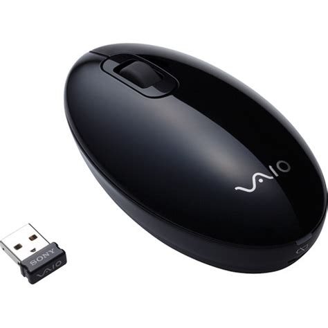 Mouse Wireless Sony sony vgp wms30 b wireless laser mouse black vgpwms30 b b h