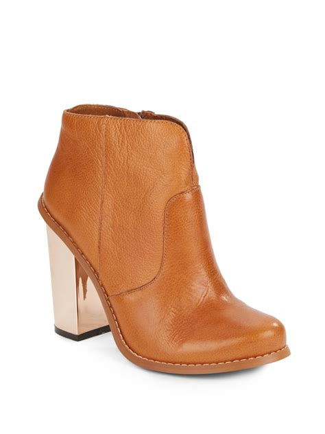 laundry boots laundry leather ankle boots in brown lyst