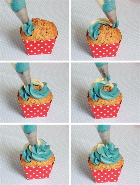 decorar cup cakes faciles cupcakes con buttercream bicolor ideas decorativas
