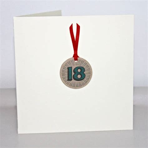 Handmade 18 Birthday Cards - handmade 18th birthday card by chapel cards