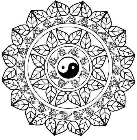 free yin yang coloring pages mandala con el free printable online yin yang coloring