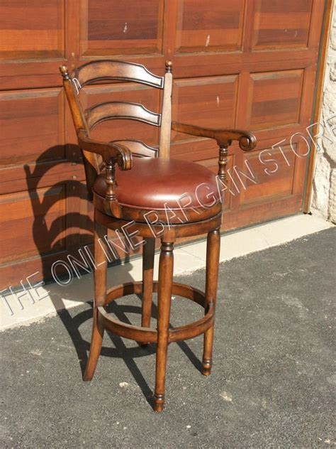 kitchen counter height bar stools frontgate wood leather kitchen counter 24 quot height stool