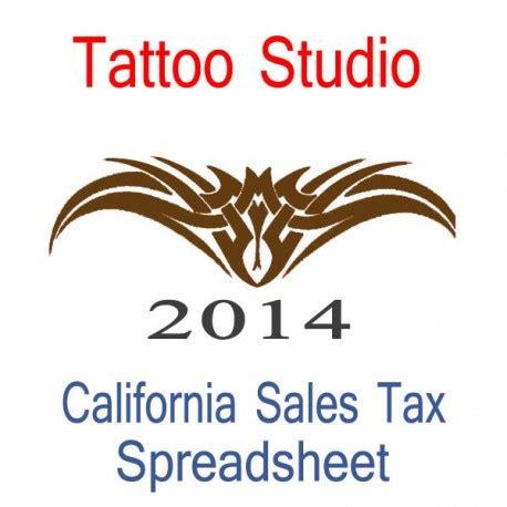 california tattoo studio accounts amp sales tax spreadsheet