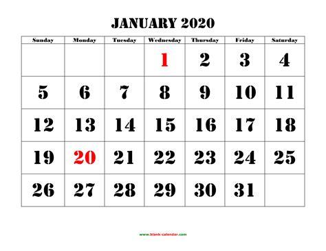 january  printable calendar   monthly calendar templates