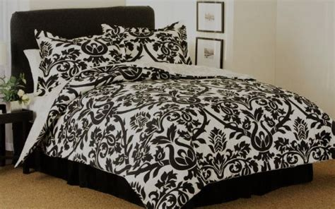 5 cheap modern damask black and white comforter bedding