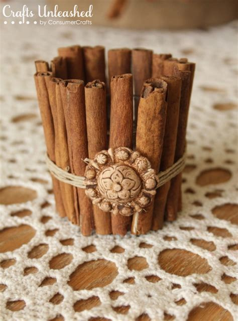 fall decorating ideas cinnamon stick candle holder