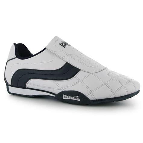 Sepatu Lonsdale Camden Slip On Mens Black White lonsdale mens camden trainers slip on design stitched