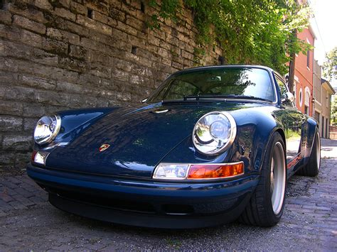 singer porsche blue rock car the singer built porsche indiana