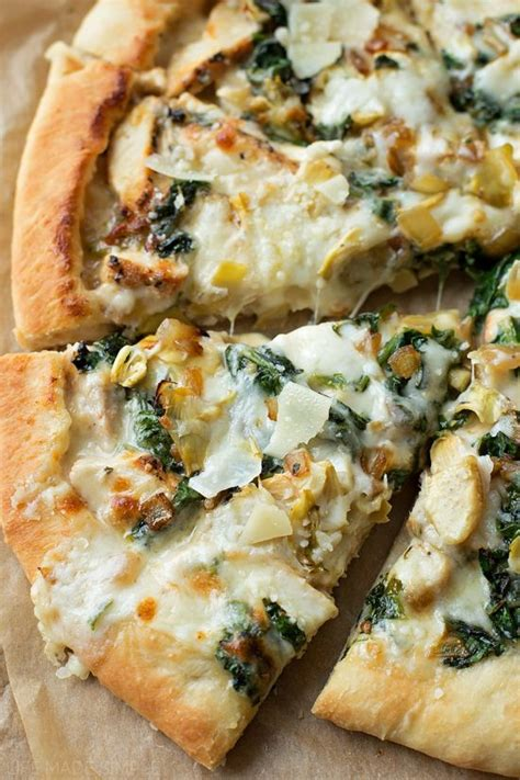 1000 ideas about spinach artichoke pizza on pinterest
