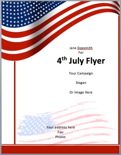 American Flyer Template 4th July Free Flyer Templates Closure Flyer Template