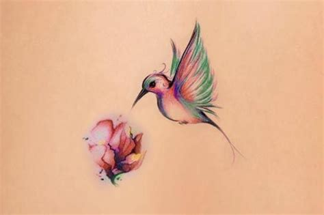 hummingbird and flower tattoo hummingbird and a flower tattoos