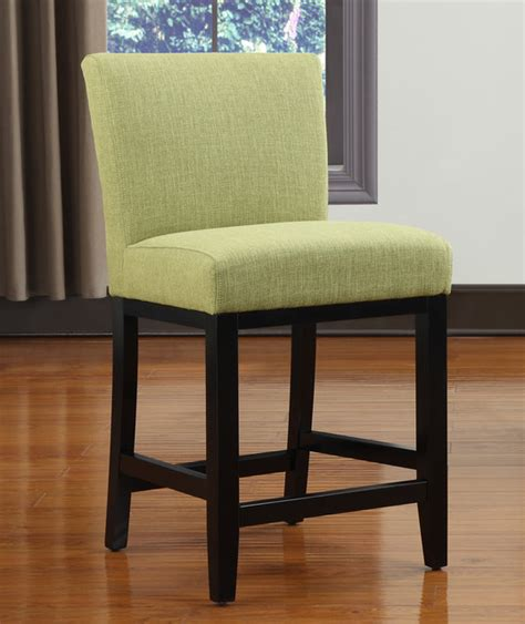 Apple Bar Stools by Portfolio Apple Green Linen Upholstered 24 Inch Bar