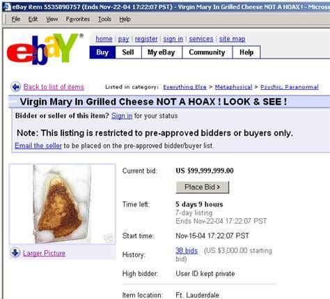 Most Things Sold On Ebay by Top 10 Weirdest Things Sold On Ebay The Ordained