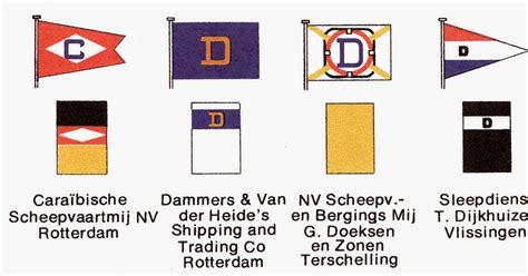 rederijen in nederland zien en weten vlaggen en schoorstenen van nederlandse