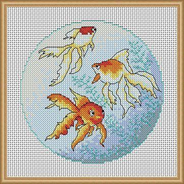 japanese pattern generator oriental goldfish cross stitch patterns instant download