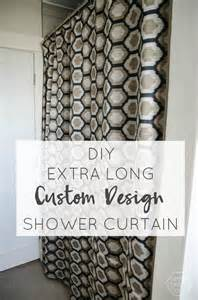 hometalk diy extra long shower curtain