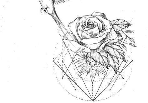 geometric mandala rose bird antonella s tattoo