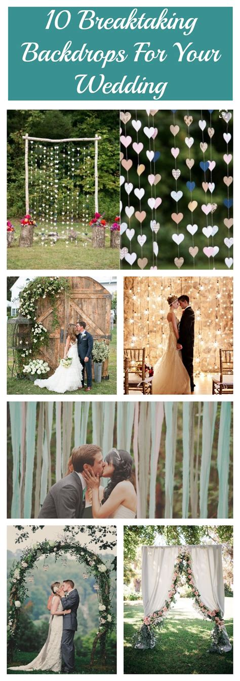 Wedding Backdrop Graphic by 10 Breathtaking Backdrops For Your Wedding Rustic